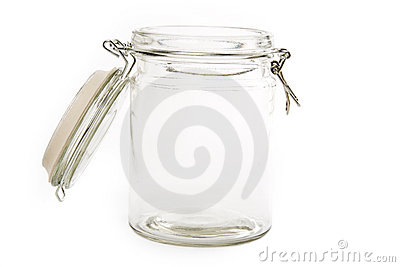 Glass food jar
