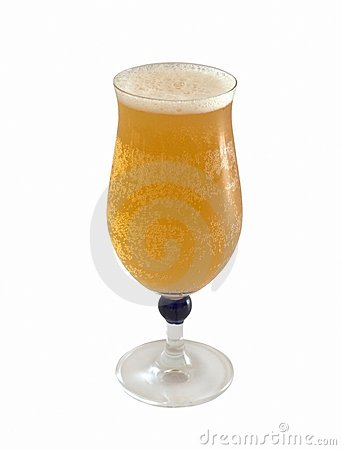 Glass of fresh cool beer