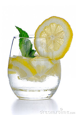 Glass of fresh cool tonic