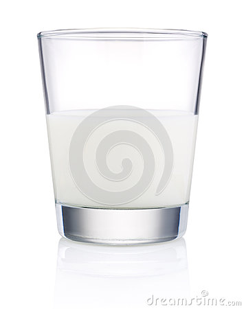 Glass of fresh milk isolated on white background