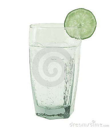 Glass of fresh sparkling water