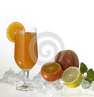 Glass of fruit juice