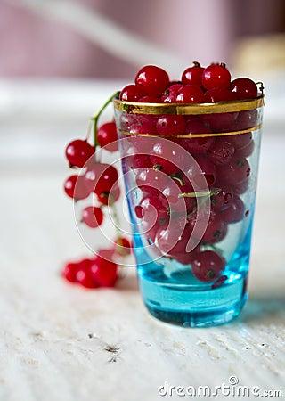 Glass full of Cranberries