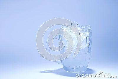 Glass full of ice cube