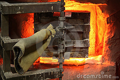 Glass Furnace Door Royalty Free Stock Images - Image: 7795709