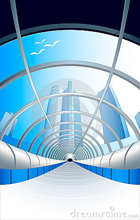 Free Glass Futuristic Tunnel Stock Images - 4100594