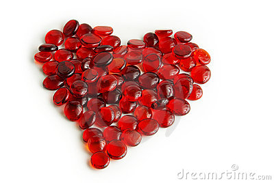 Glass gems heart