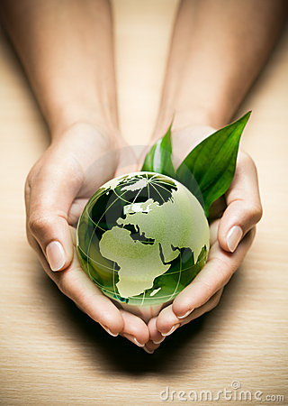 Free Glass Globe In Hands Stock Photos - 16220693