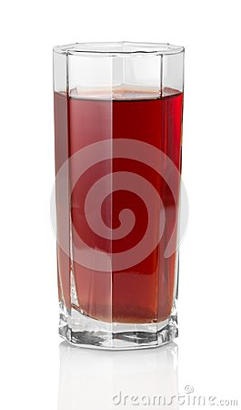 The glass of grape juice