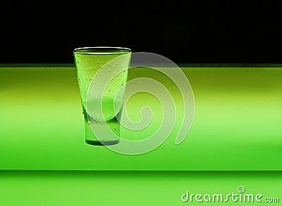 Glass in green