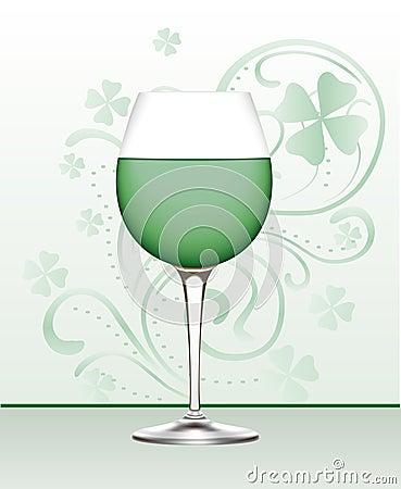 Glass of Green Wine