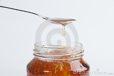 The glass honey jar