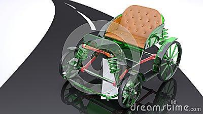 Glass horse cart