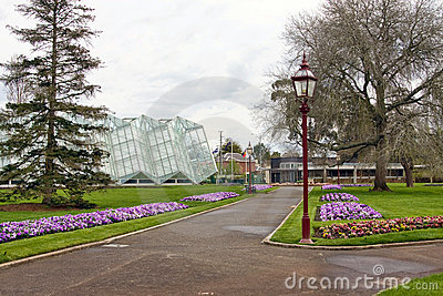 Glass house at botanical gardens