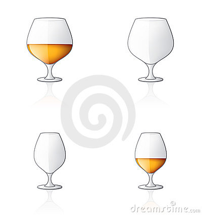 Glass Icon Set 60u, Brandy/Cog