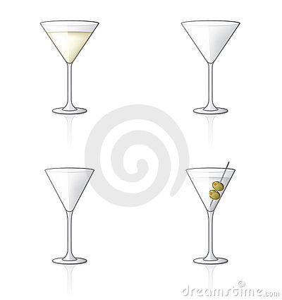 Free Glass Icon Set 61b, Martini Stock Photography - 2683052