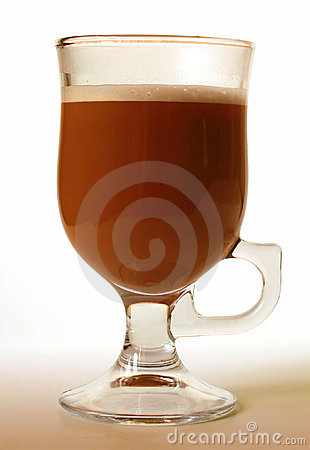 Glass of irish coffee