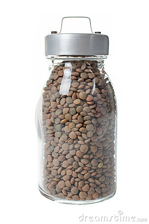 Free Glass Jar Of Lentils Royalty Free Stock Photography - 3041567
