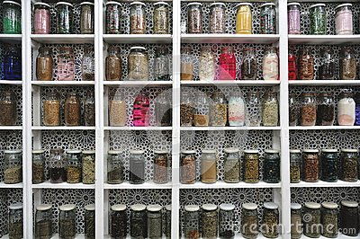 Glass Jars in a Moroccan Shop, Marrakech