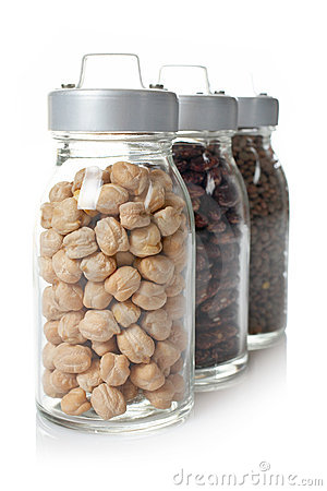 Free Glass Jars Of Legumes Stock Photo - 3009310