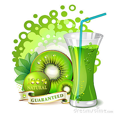Glass of kiwi juice