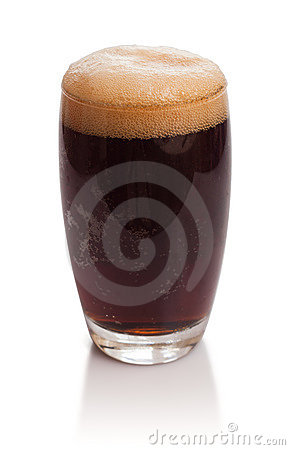 Glass of kvass with froth