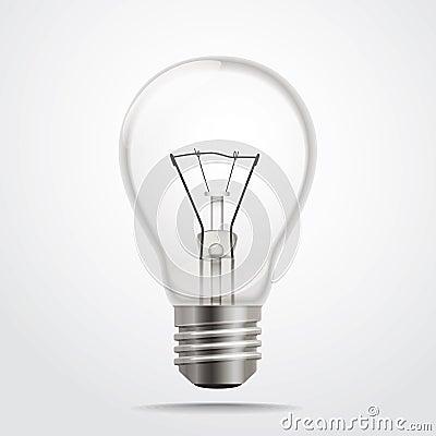 Glass lamp illustration