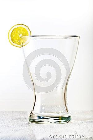 Glass with lemon