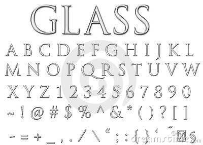 Glass letters