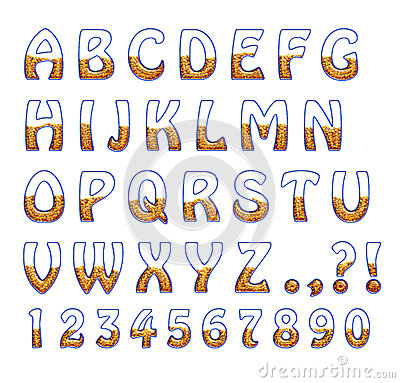 glass letters are filled with grain stock photos image With glass alphabet letters