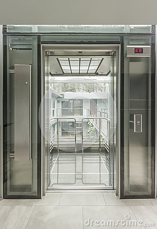 Glass Lift Stock Photo Image 34437090