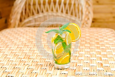 Glass of limonade on the table