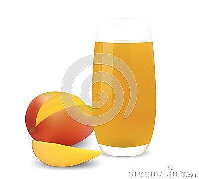 Glass of mango juice.