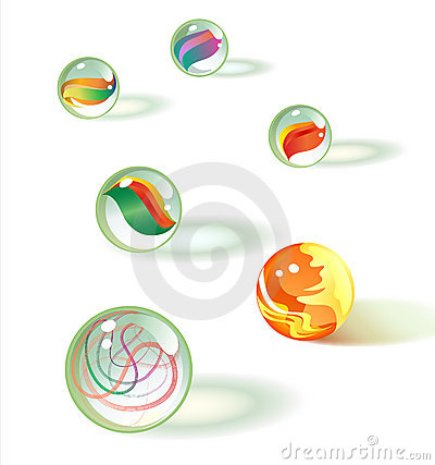 Free Glass Marbles Set 2 Royalty Free Stock Image - 5267196