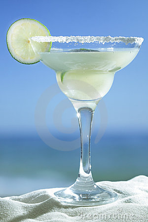 Glass of Margarita coctail