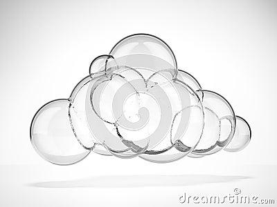 Glass moln