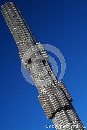 Glass obelisk and sky