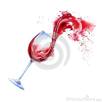 Free Glass Of A Red Wine And Splashes.Picture Of A Alcoholic Drink. Royalty Free Stock Photos - 107384818