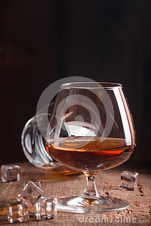 Free Glass Of Brandy Or Cognac Royalty Free Stock Photo - 83122745