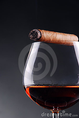 Free Glass Of Cognac Stock Photography - 17920722