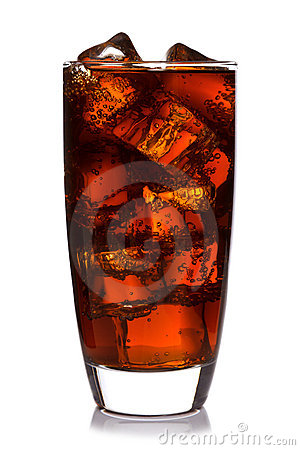 Free Glass Of Cola Isolated Royalty Free Stock Photography - 18291077