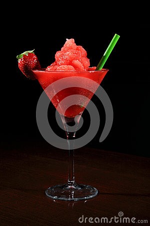 Free Glass Of Daquiri Strawberry Stock Photos - 26148573