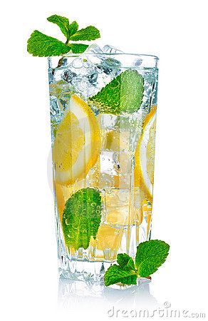 Free Glass Of Fresh Cool Water With Lemon Royalty Free Stock Images - 18512179