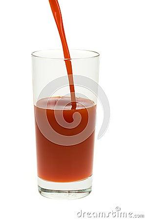 Free Glass Of Fresh Tomato Juice Royalty Free Stock Photography - 4805867