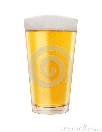 Free Glass Of Golden Light Beer Royalty Free Stock Photography - 48994027