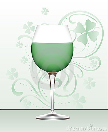 Free Glass Of Green Wine Stock Images - 1743174