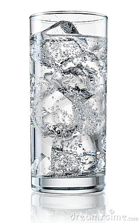 Free Glass Of Mineral Water With Ice. With Clipping Path Stock Photography - 75287992