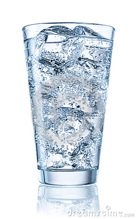 Free Glass Of Mineral Water With Ice. With Clipping Path Royalty Free Stock Image - 75288226