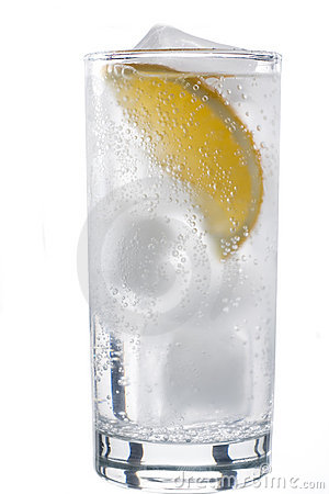 Free Glass Of Mineral Water With Lemon Stock Image - 1871061