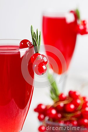 Free Glass Of Redcurrant Wine Drink Juice Decorated With Rosemary Ber Royalty Free Stock Photos - 123240228
